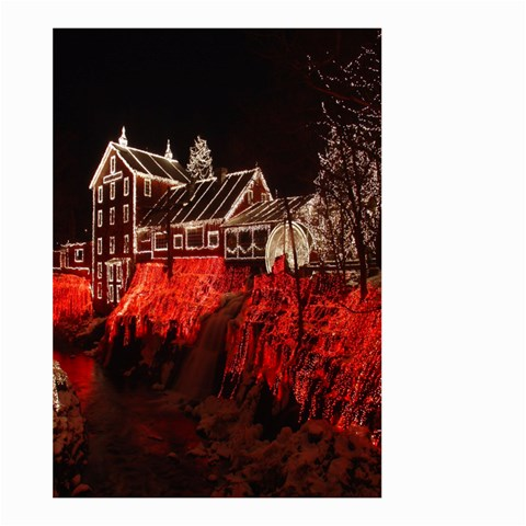 Clifton Mill Christmas Lights Large Garden Flag (Two Sides)