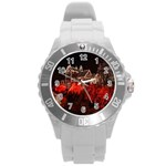 Clifton Mill Christmas Lights Round Plastic Sport Watch (L) Front