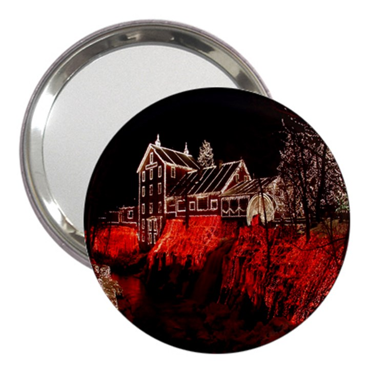 Clifton Mill Christmas Lights 3  Handbag Mirrors