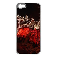 Clifton Mill Christmas Lights Apple iPhone 5 Case (Silver)