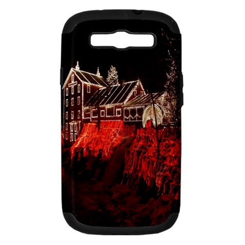Clifton Mill Christmas Lights Samsung Galaxy S III Hardshell Case (PC+Silicone)