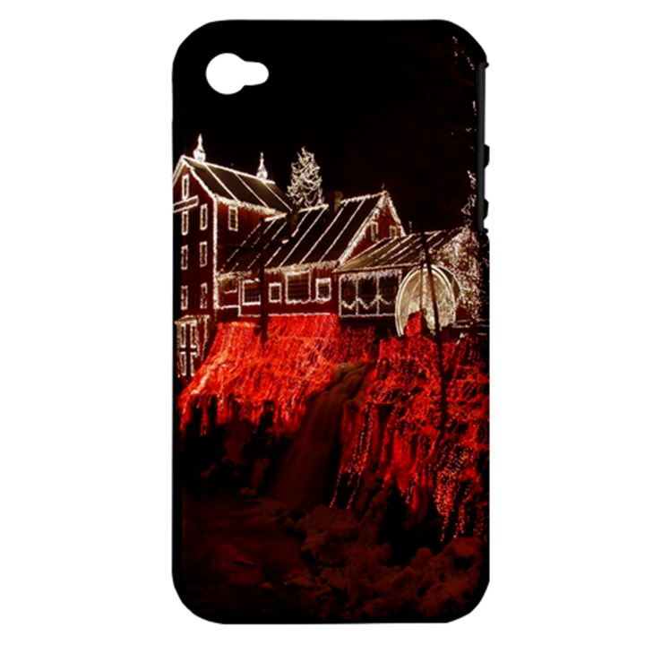 Clifton Mill Christmas Lights Apple iPhone 4/4S Hardshell Case (PC+Silicone)