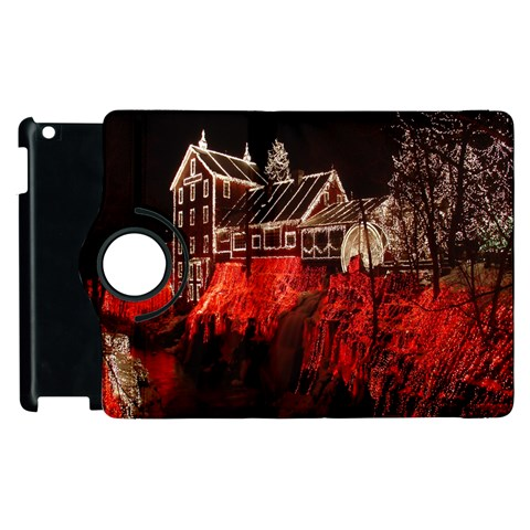 Clifton Mill Christmas Lights Apple iPad 2 Flip 360 Case