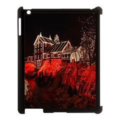 Clifton Mill Christmas Lights Apple iPad 3/4 Case (Black)