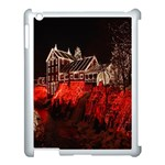 Clifton Mill Christmas Lights Apple iPad 3/4 Case (White) Front
