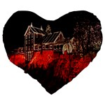 Clifton Mill Christmas Lights Large 19  Premium Heart Shape Cushions Back