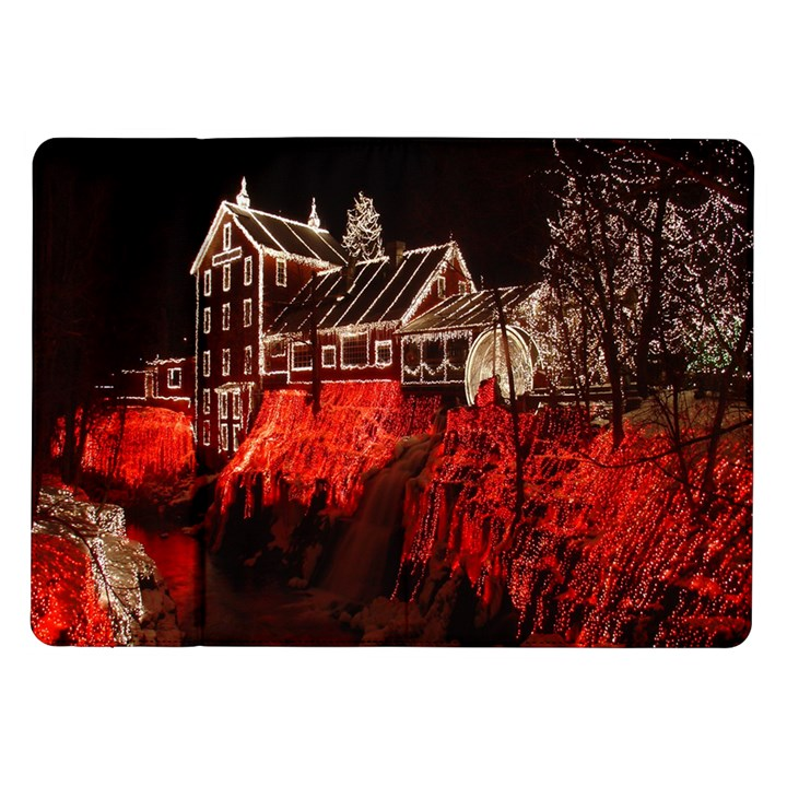 Clifton Mill Christmas Lights Samsung Galaxy Tab 10.1  P7500 Flip Case
