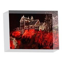 Clifton Mill Christmas Lights 5 x 7  Acrylic Photo Blocks