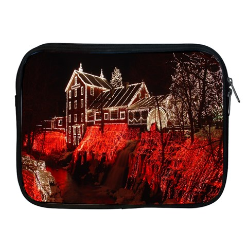 Clifton Mill Christmas Lights Apple iPad 2/3/4 Zipper Cases
