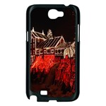 Clifton Mill Christmas Lights Samsung Galaxy Note 2 Case (Black) Front