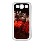 Clifton Mill Christmas Lights Samsung Galaxy S3 Back Case (White) Front