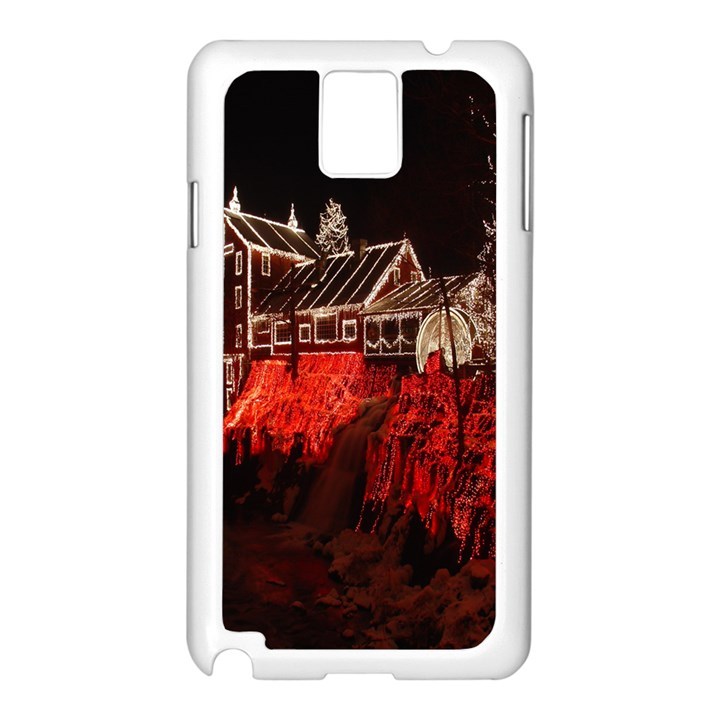 Clifton Mill Christmas Lights Samsung Galaxy Note 3 N9005 Case (White)