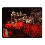 Clifton Mill Christmas Lights Double Sided Fleece Blanket (Small)  50 x40 Blanket Front