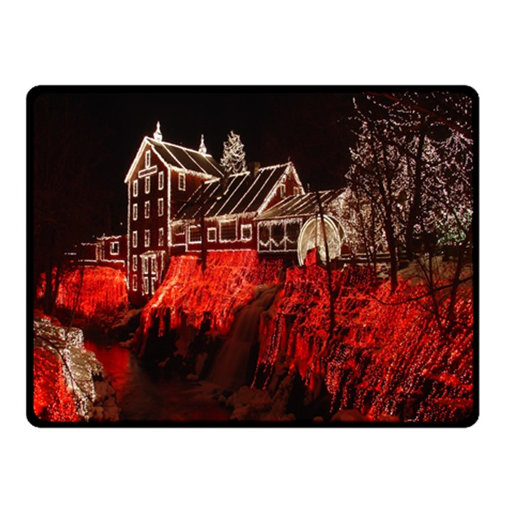 Clifton Mill Christmas Lights Double Sided Fleece Blanket (Small)