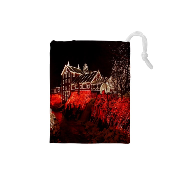 Clifton Mill Christmas Lights Drawstring Pouches (Small)