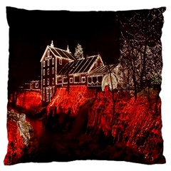 Clifton Mill Christmas Lights Large Flano Cushion Case (One Side)