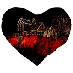 Clifton Mill Christmas Lights Large 19  Premium Flano Heart Shape Cushions Front
