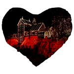 Clifton Mill Christmas Lights Large 19  Premium Flano Heart Shape Cushions Back