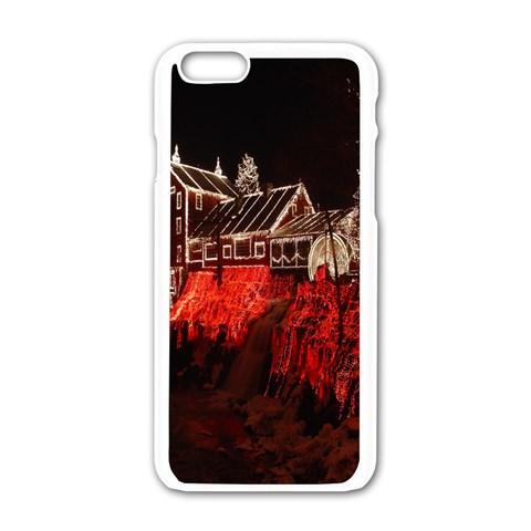 Clifton Mill Christmas Lights Apple iPhone 6/6S White Enamel Case