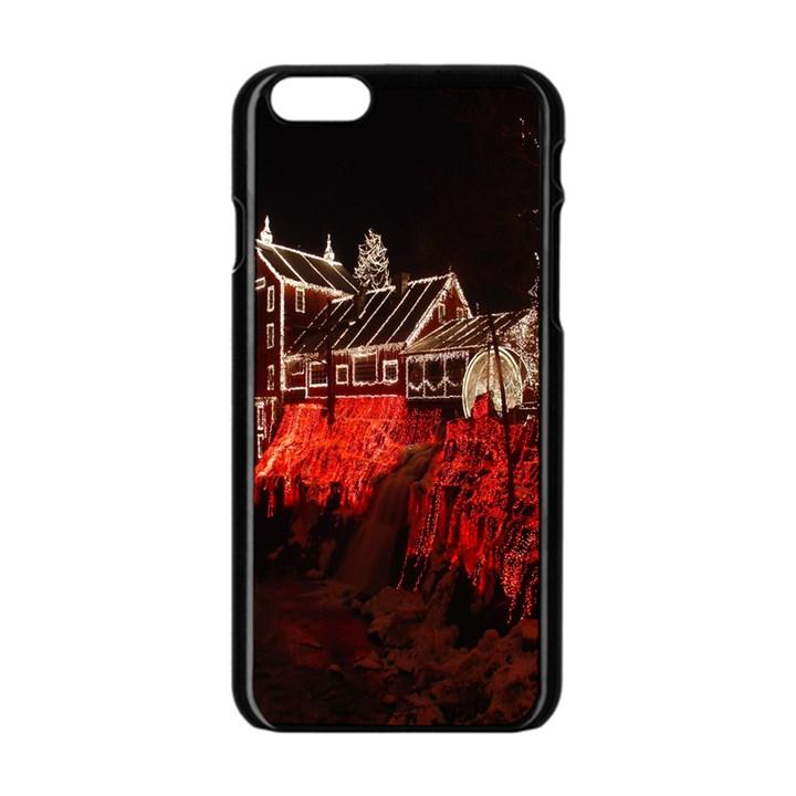 Clifton Mill Christmas Lights Apple iPhone 6/6S Black Enamel Case