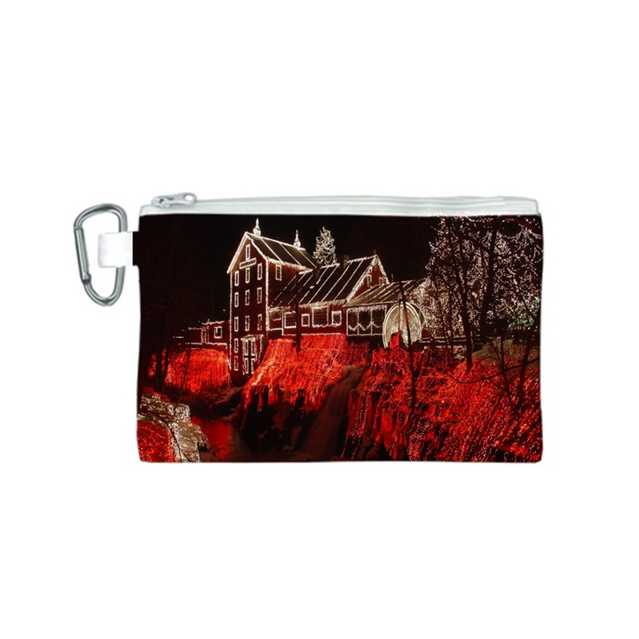 Clifton Mill Christmas Lights Canvas Cosmetic Bag (S)