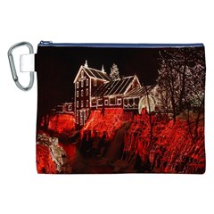 Clifton Mill Christmas Lights Canvas Cosmetic Bag (XXL)