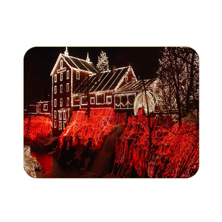 Clifton Mill Christmas Lights Double Sided Flano Blanket (Mini)