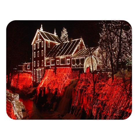 Clifton Mill Christmas Lights Double Sided Flano Blanket (Large)