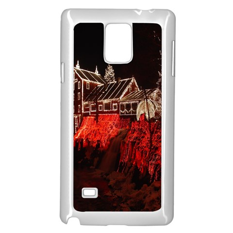 Clifton Mill Christmas Lights Samsung Galaxy Note 4 Case (White)