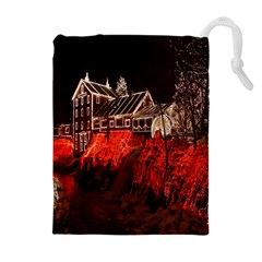 Clifton Mill Christmas Lights Drawstring Pouches (Extra Large)