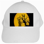 Death Haloween Background Card White Cap Front