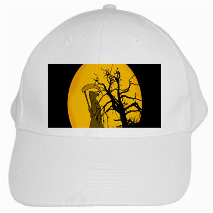 Death Haloween Background Card White Cap