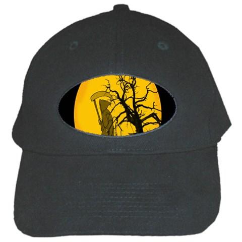 Death Haloween Background Card Black Cap