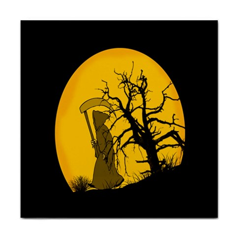 Death Haloween Background Card Tile Coasters
