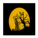Death Haloween Background Card Tile Coasters Front