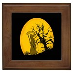 Death Haloween Background Card Framed Tiles Front