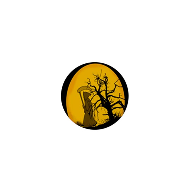 Death Haloween Background Card 1  Mini Magnets