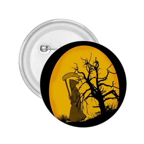 Death Haloween Background Card 2.25  Buttons