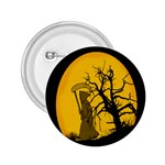 Death Haloween Background Card 2.25  Buttons Front