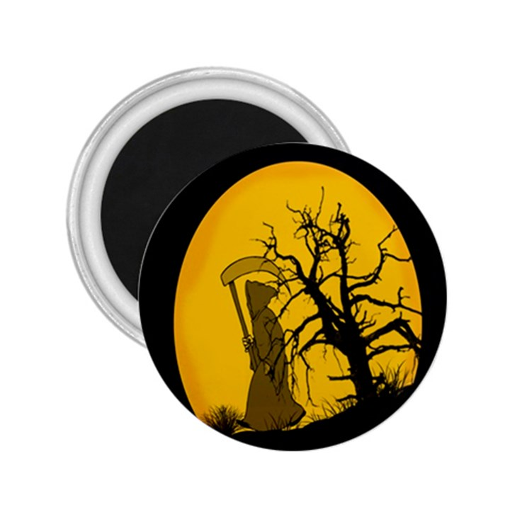 Death Haloween Background Card 2.25  Magnets