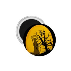 Death Haloween Background Card 1.75  Magnets