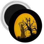 Death Haloween Background Card 3  Magnets Front