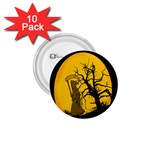Death Haloween Background Card 1.75  Buttons (10 pack) Front