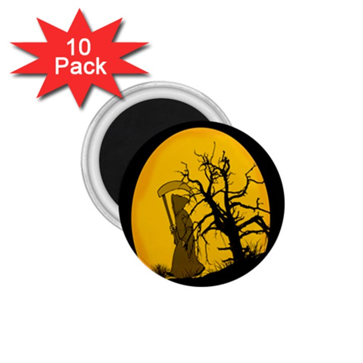 Death Haloween Background Card 1.75  Magnets (10 pack)