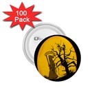 Death Haloween Background Card 1.75  Buttons (100 pack)  Front