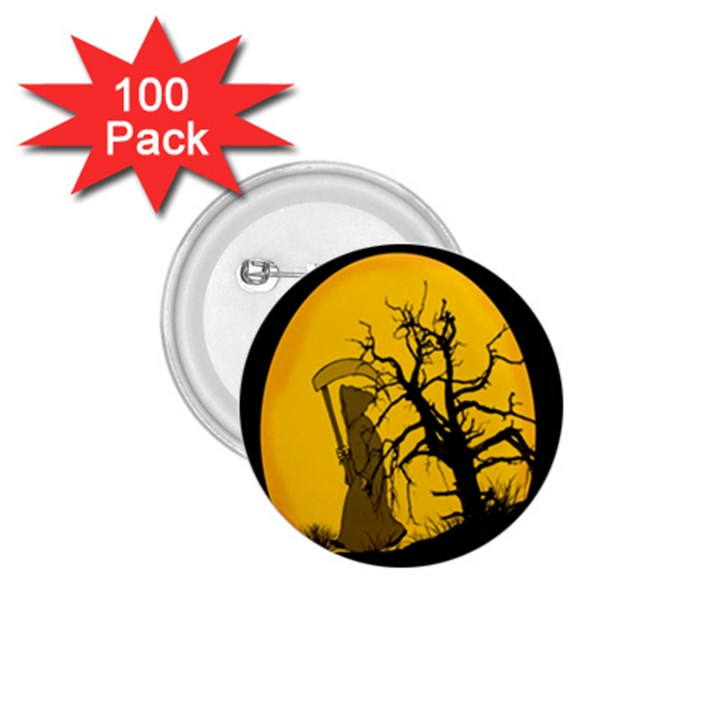 Death Haloween Background Card 1.75  Buttons (100 pack)