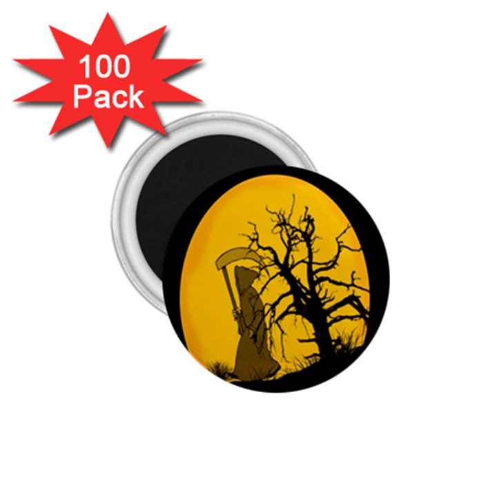 Death Haloween Background Card 1.75  Magnets (100 pack)