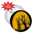 Death Haloween Background Card 2.25  Buttons (10 pack)  Front