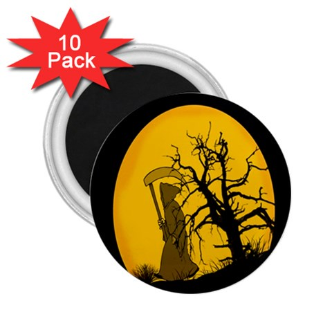 Death Haloween Background Card 2.25  Magnets (10 pack)
