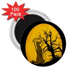Death Haloween Background Card 2.25  Magnets (100 pack)  Front